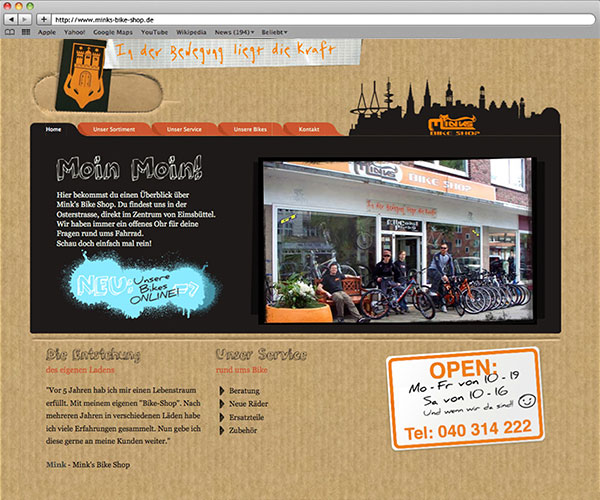 Webkonzeption Minks-Bike-Shop